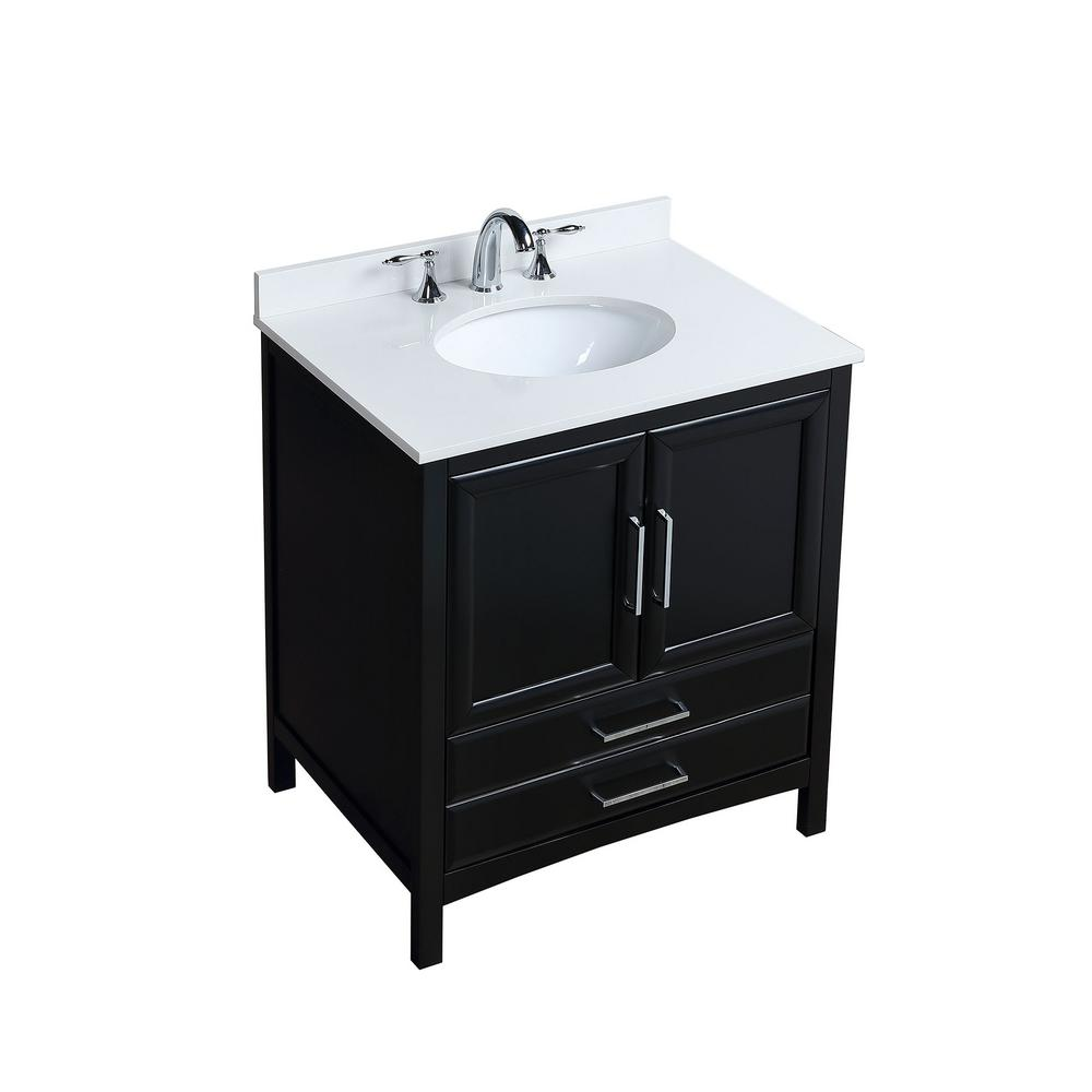 Vanity Art 30 In W X 22 In D X 35 In H Bath Vanity In Espresso With Vanity Top In White Cultured Marble With White Basin Va3230e The Home Depot