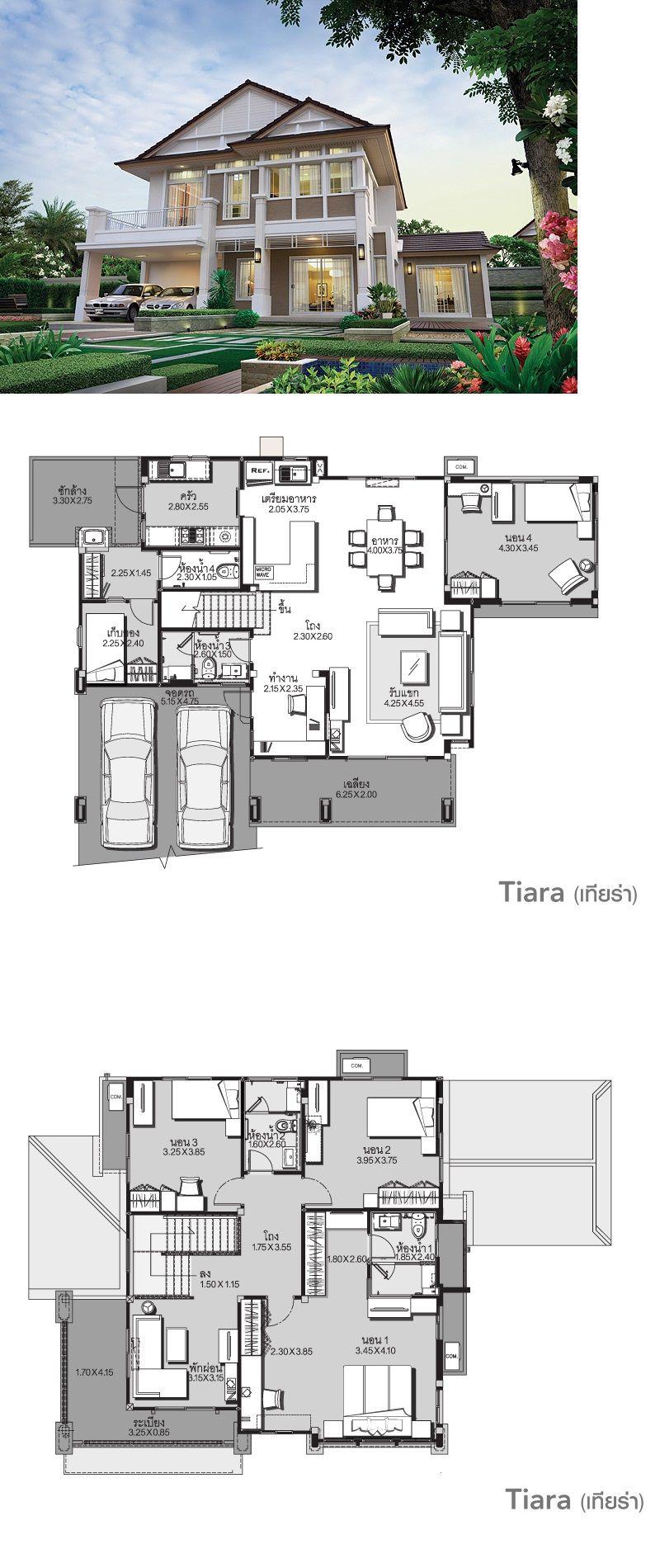 Land And Houses Arsitektur Rumah Besar Denah Desain Rumah