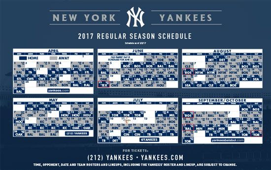 picture regarding Yankees Schedule Printable named Fresh new York Yankees Printable Routine Fresh new York Yankees Fresh new