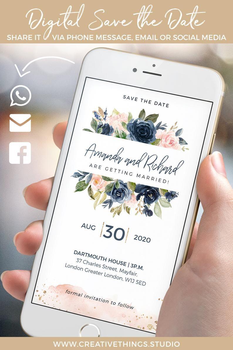 Electronic Wedding Invitations Electronic Invitations  Etsy