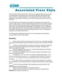 Associated Press Ap Style Guide The Basics With Images