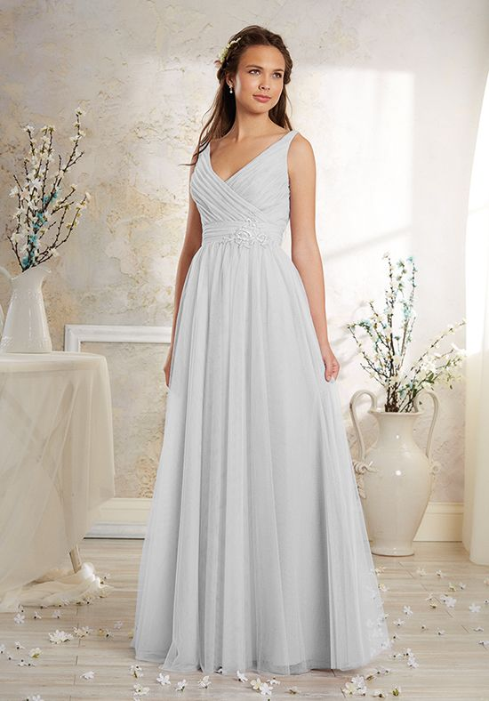 A-Line V-Neck Floor Bridesmaid Dress | Style 8629L by Alfred Angelo ...