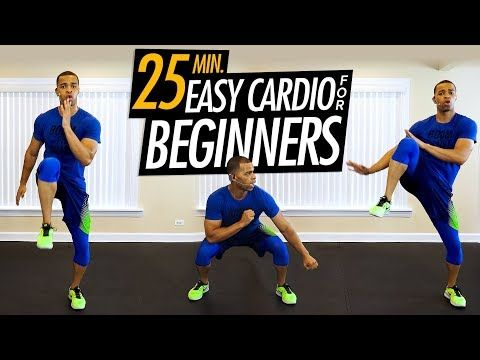 25 minute easy cardio workout for beginners // at home