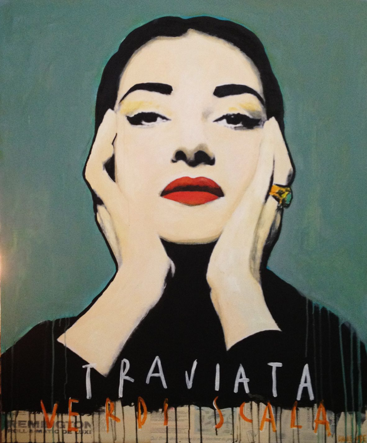 """CALLAS, 2013"" by Corinne Dalle Ore - Mixed media on canvas #Italia #Art #Triviata"