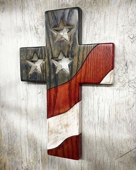 American Flag Cross Woodworking Ideas Wood Crosses
