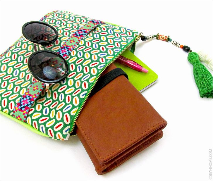 how to sew a clutch bag with zipper