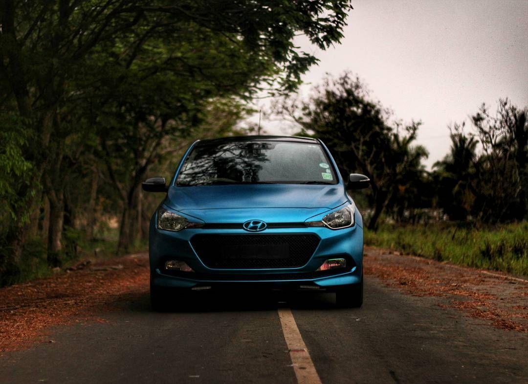 Modified Hyundai Elite I20 On Satin Metallic Blue Wrap Car And