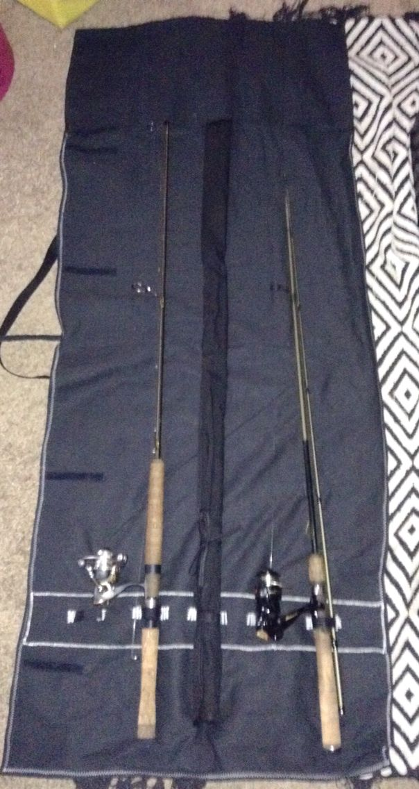 Roll Up Fishing Rod Carry Case Fish In A Bag Diy Fishing Rod Diy Fishing Pole