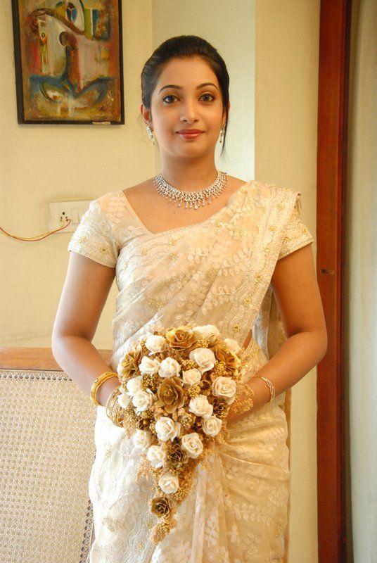 Photo of lacey wedding saree