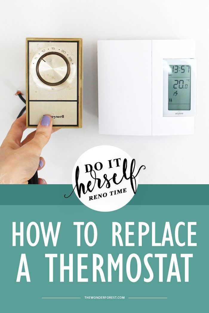 Do It Herself  How To Replace A Thermostat  Analog To Digital  With Images