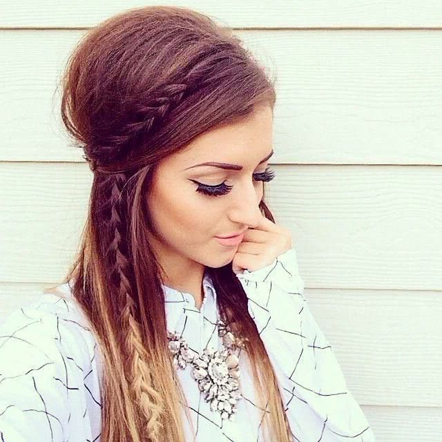 2019 LOOSE HAIRSTYLES WITH BRAIDS: EASY HAIRSTYLES FOR DAILY USE.   Braided hairstyles easy, Diy ...