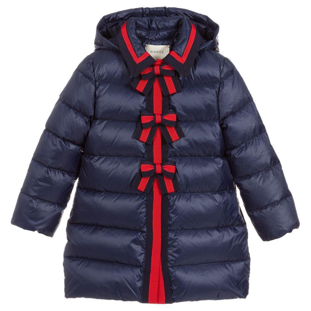 cec387c89bb1 Girls Blue Down Padded Coat