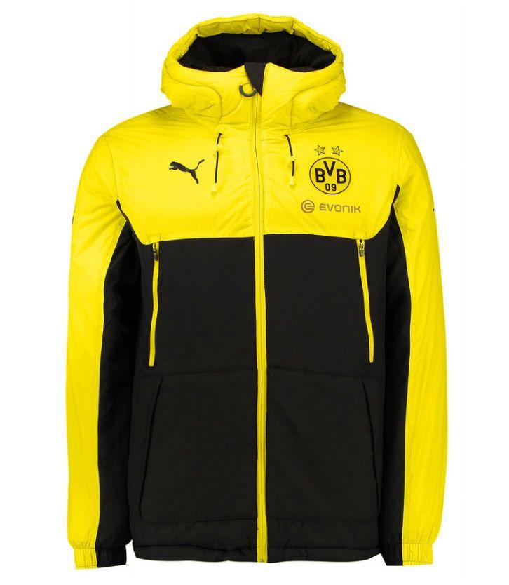 2015 2016 Borussia Dortmund Puma Reversible Jacket Black Yellow Ropa Ropa Deportiva Camisetas