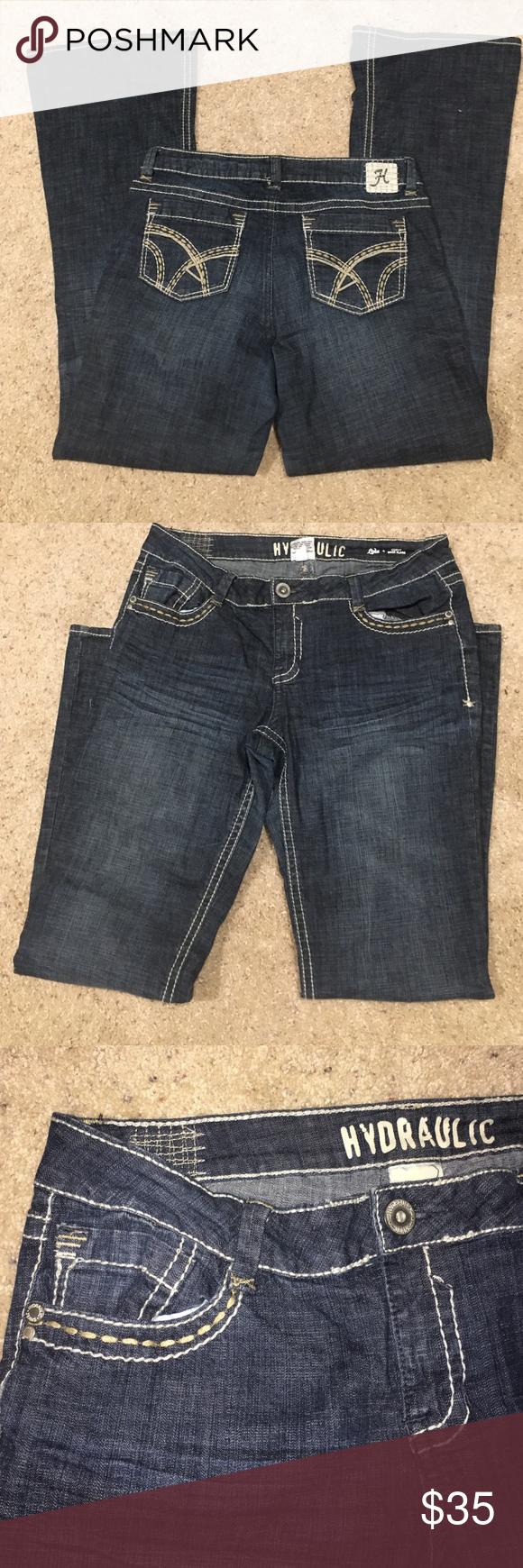 1b3fa3be32d Hydraulic Lola jeans Brand new hydraulic Lola curvy boot flare jeans size  15 16 Hydraulic