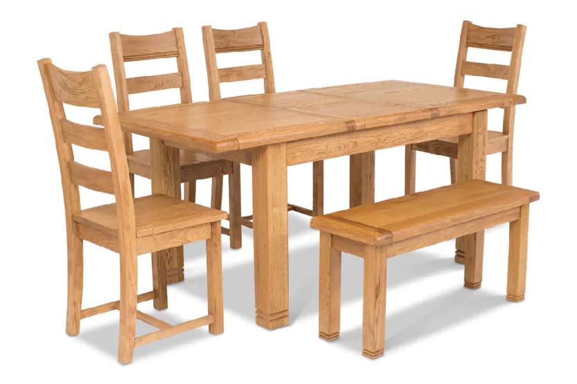 Dawn Dining Set With Bench 6 Piece Oak Ireland Dining Set With Bench Dining Dining Set