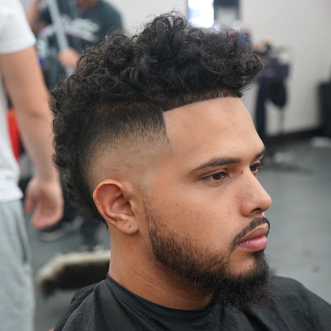 level_10 bald fade frohawk haircut long curls #menshairstyles