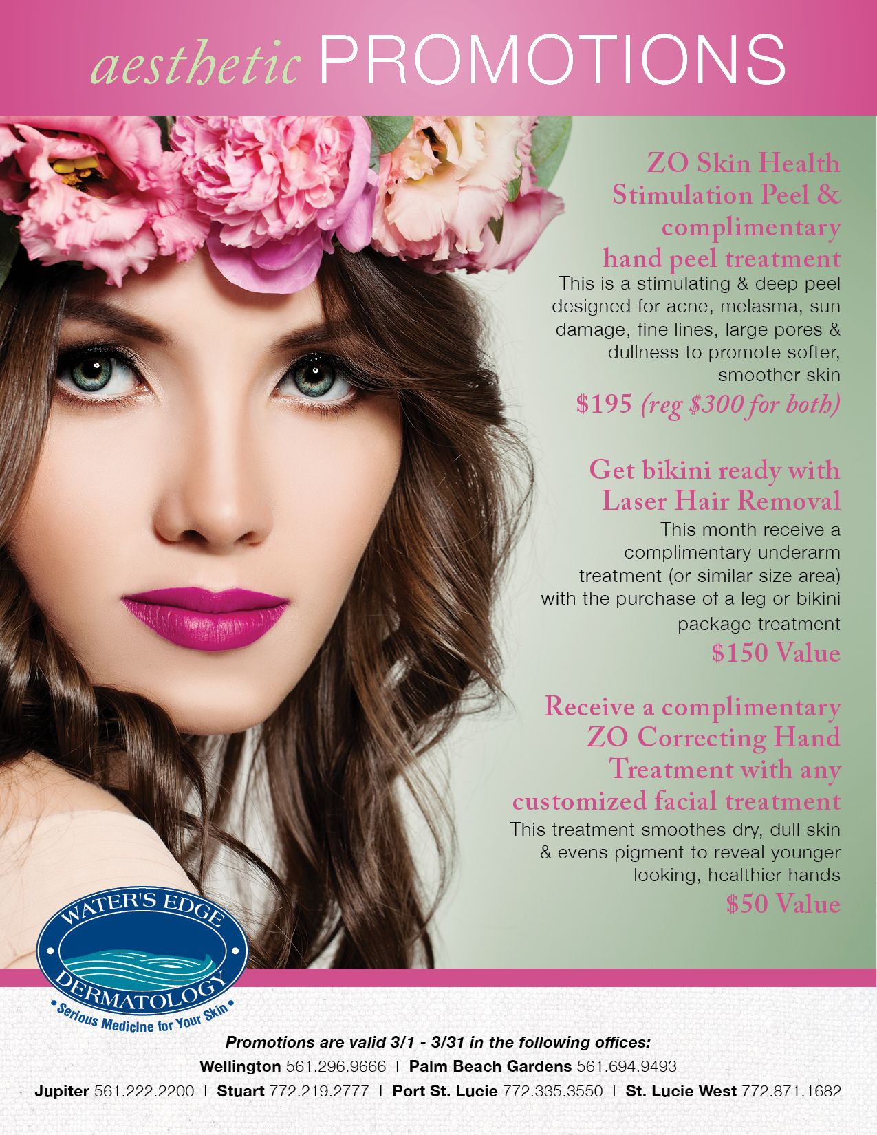 Spring into March with beautiful aesthetic specials at