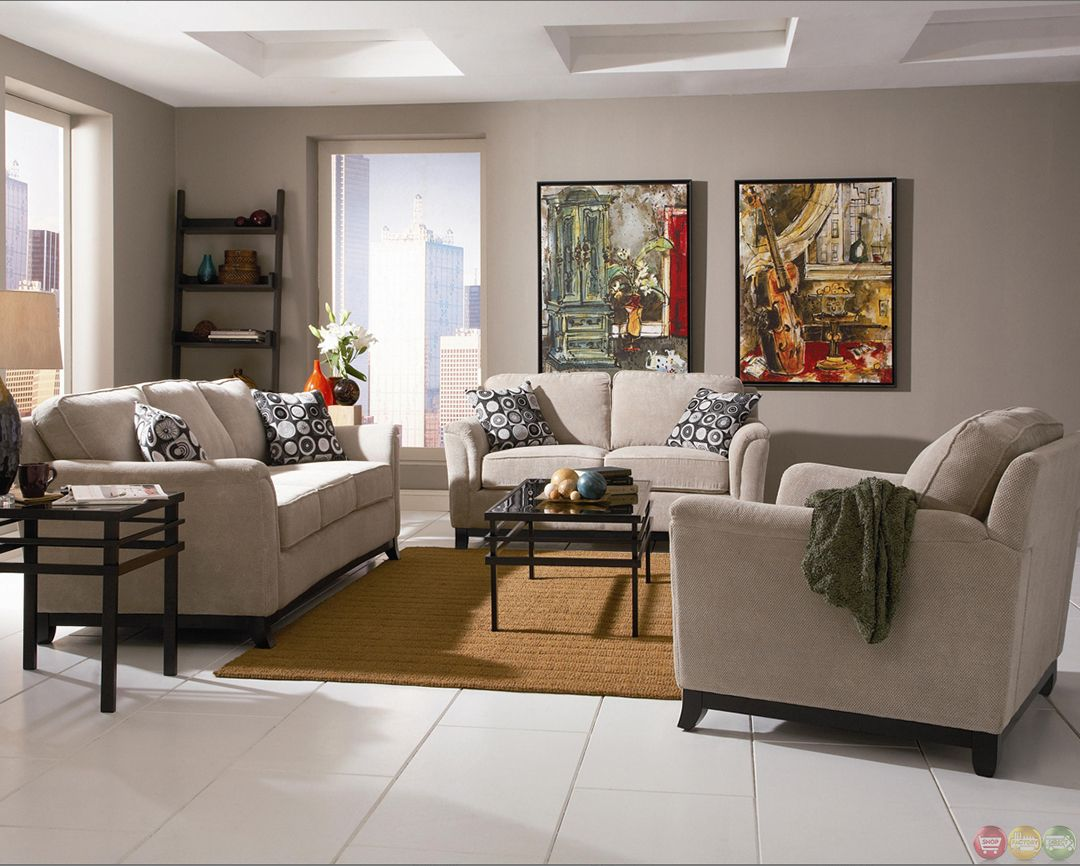 Carver chenille fabric living room sofa and loveseat set neutral color decor taupe walls sofas ideas