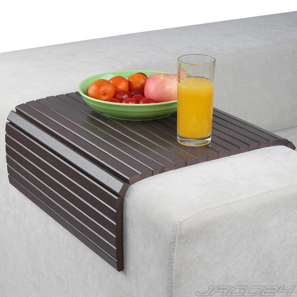 Sofa Arm Rest Tray Couch Chair Cover Flexible Snack Table Trivet Mat Bamboo Wood Lovely Sofas Sofa Arm Covers Couch Chair
