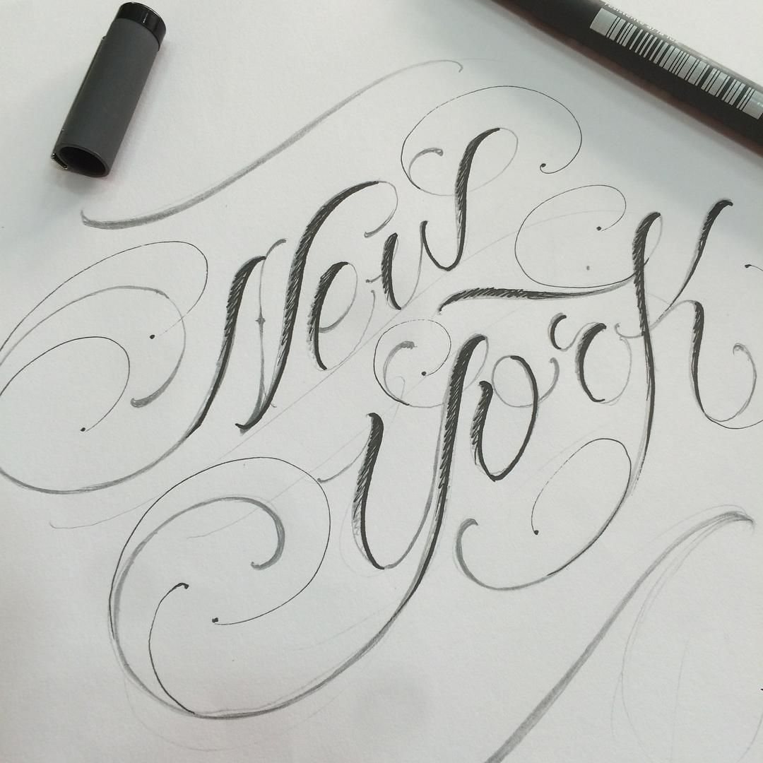 Quick sketch NEW YORK Graffiti lettering, Cool lettering