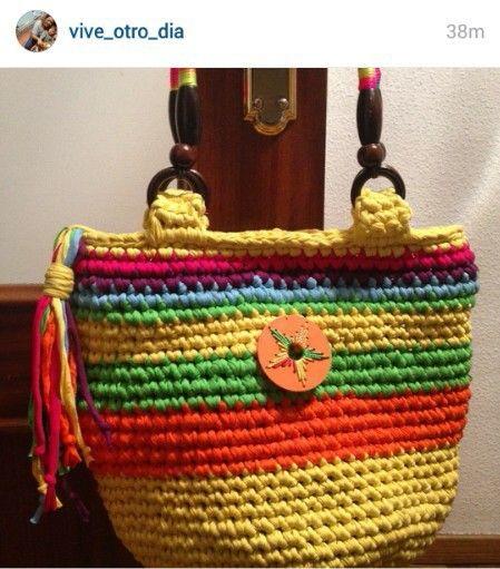Pin von Lidija Farago auf crochet bags | Pinterest | Häkeln