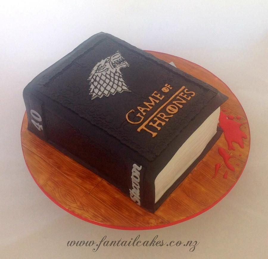 Game of Thrones, Stark, book cake.