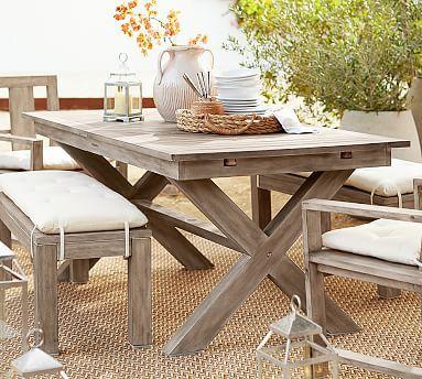 Indio Fsc Eucalyptus X Base Extending Dining Table Dining Table Extendable Dining Table Outdoor Dining Furniture