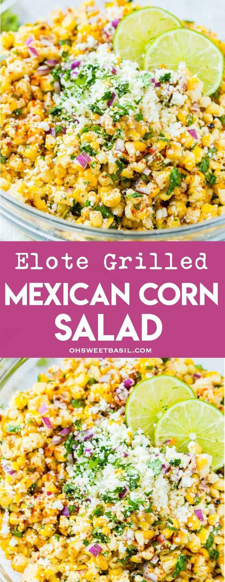 Photo of Elote Grilled Mexican Corn Salad – Oh Sweet Basil