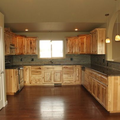 Knotty Hickory Cabinets Design Ideas Pictures Remodel And Decor Hickory Kitchen Hickory Kitchen Cabinets Rustic Kitchen Cabinets