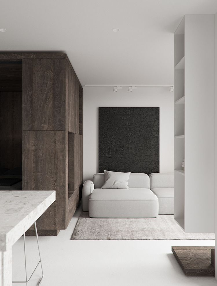 44 Sq M Minimalistic Apartment With A Cozy And Smart Design With