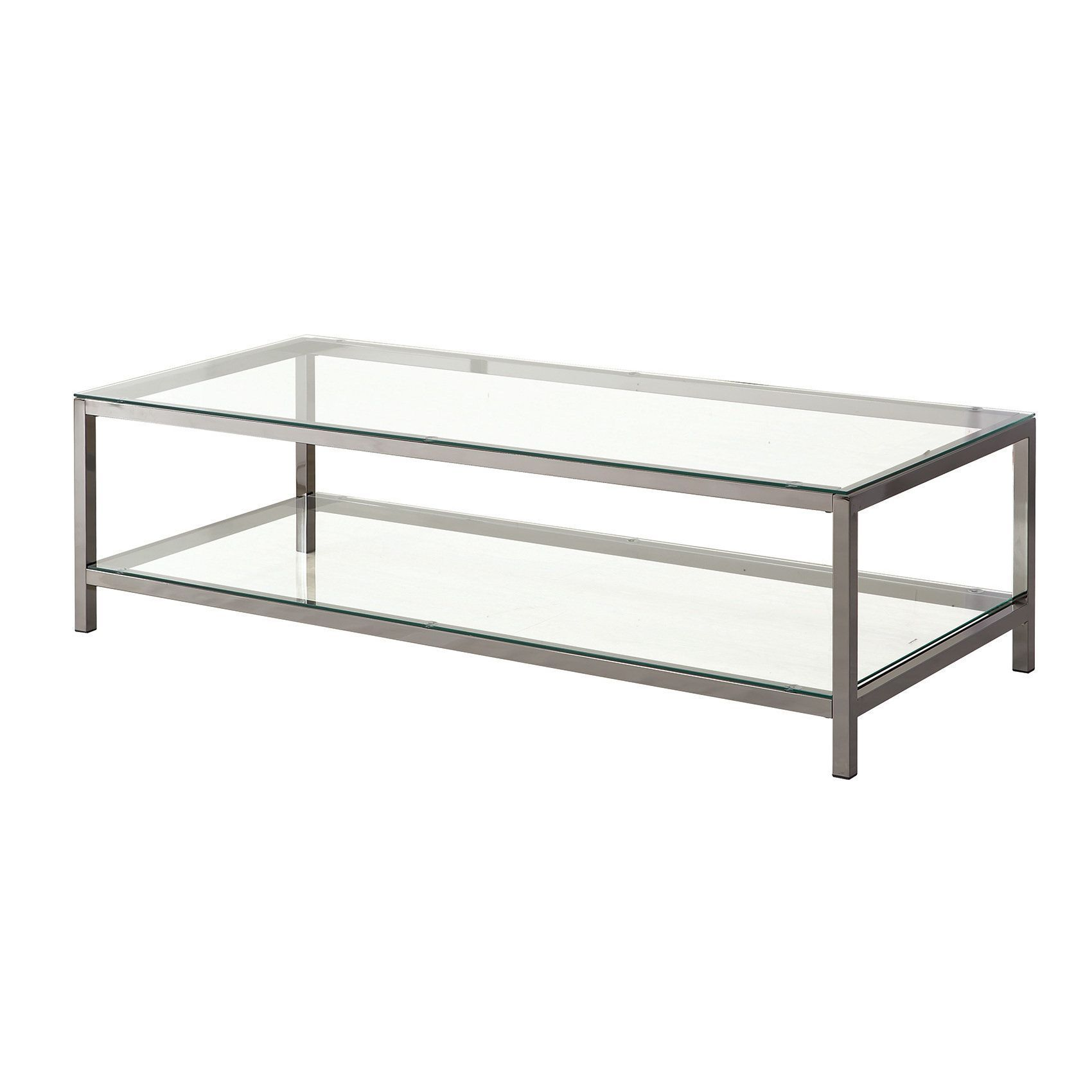 Coaster Company Chrome Coffee Table (Black Nickel)