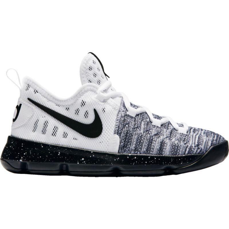 Nike Kids' Preschool Zoom KD 9 Basketball Shoes, Kids Unisex, Size: 11K,  White