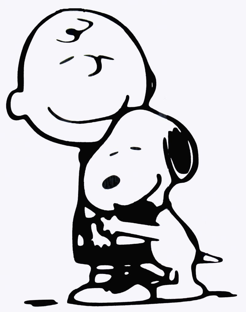 Charlie Brown and Snoopy- Vinyl Decal - Multiple colors and sizes to ...