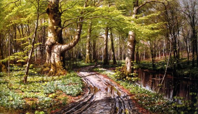 Realistic Landscape Oil Paintings By Peder Monsted Landscape Oil Painting Landscape Landscape Artist