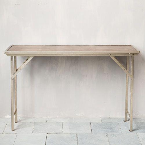 console en bois et métal pliante playtime chehoma | >>> tables