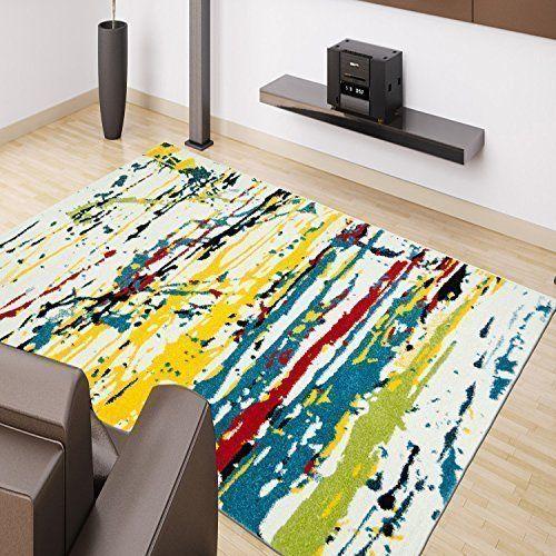 tapis moderne splash design multi couleurs multicolore tailles diff rentes rouge jaune bleu vert. Black Bedroom Furniture Sets. Home Design Ideas