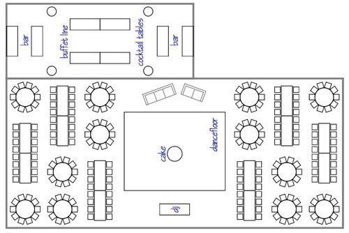 How to choose your wedding reception layout design for Wedding floor plan template