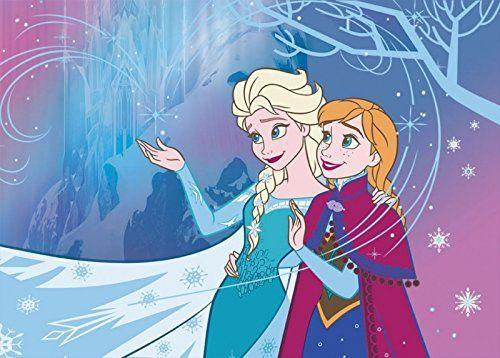 ❄ Frozen Kinderzimmer: Teppich-Traumland 100148 ...