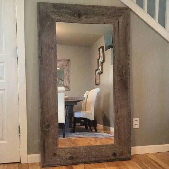 Extra Large Floor Mirror Reclaimed Wood Mirror Wood