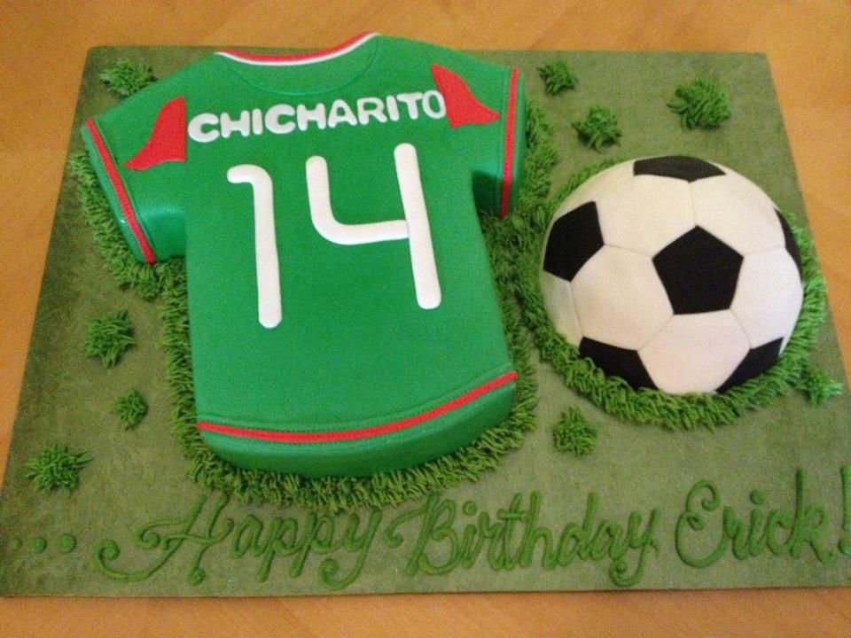 How To Decorate A Soccer Ball Cake Chicharito Jersey & Soccer Ball  Soccer Ball Birthday Cakes And