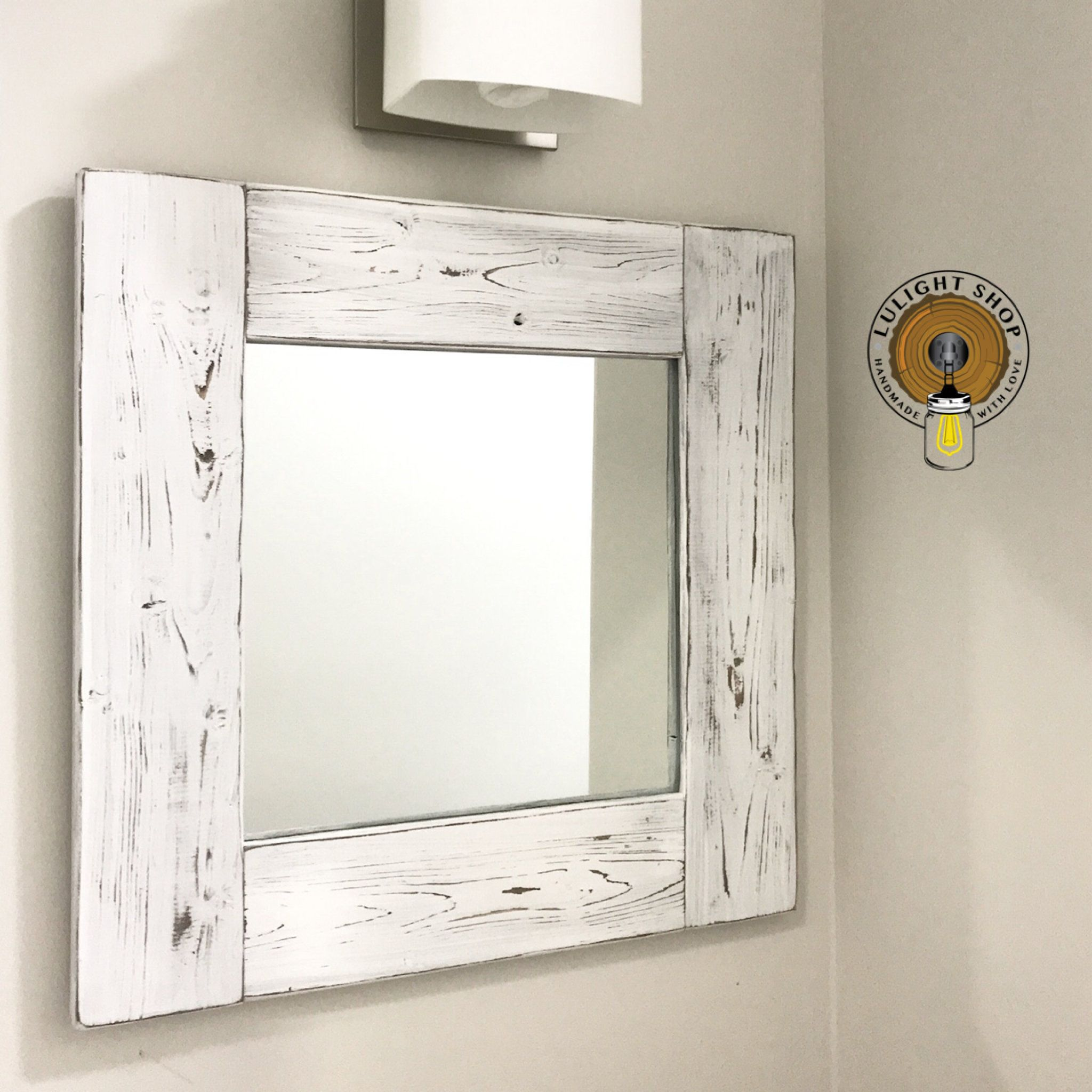 Whitewash Mirror Wood Frame Mirror White Wood Mirror Bathroom Mirror Wall Mirror Decorative Mirrors Sma Wood Framed Mirror Wood Wall Bathroom Wood Mirror