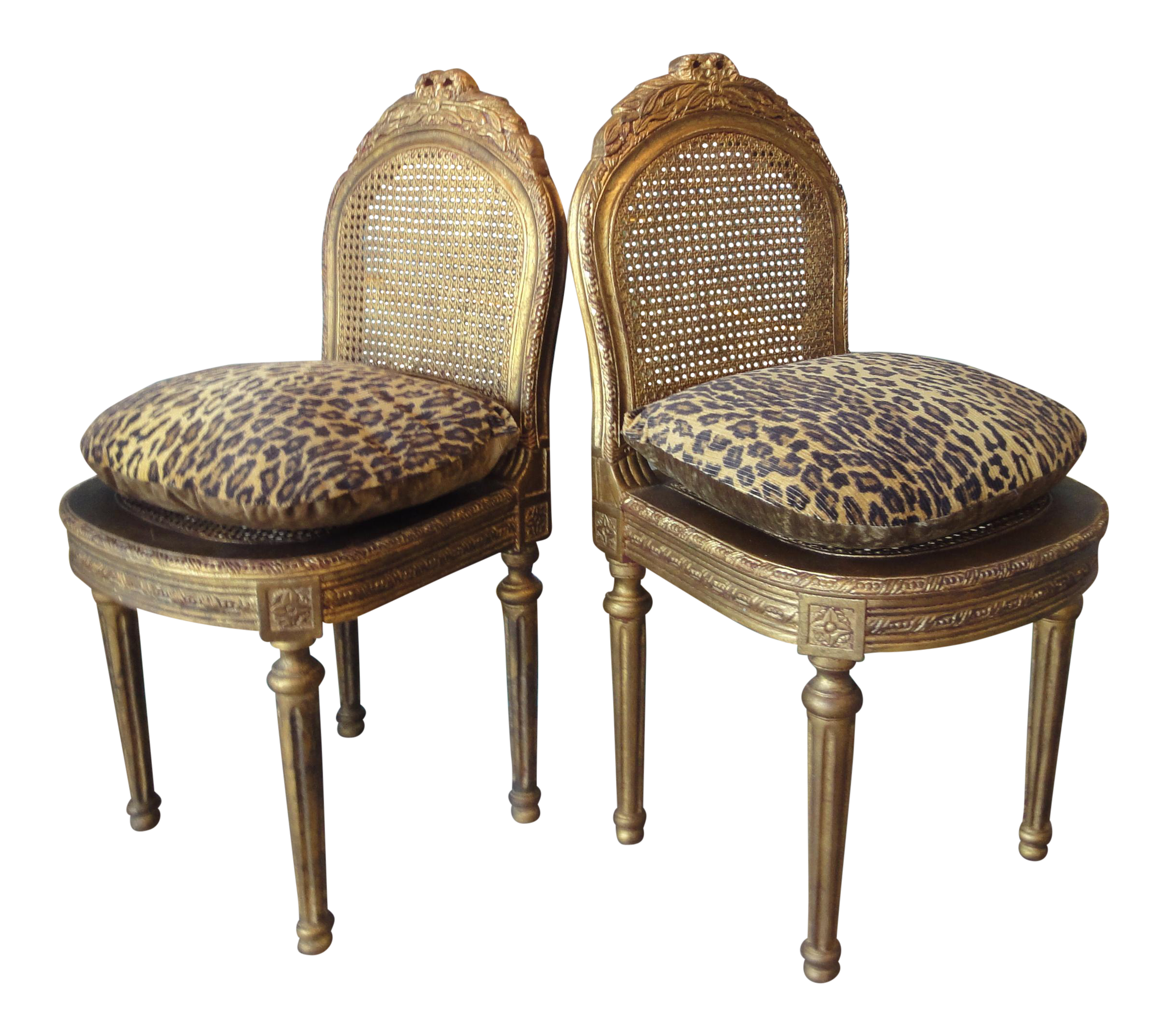 french cane chair. French Chelsea House Carved Giltwood And Cane Ballroom Chairs - A Pair Chair V