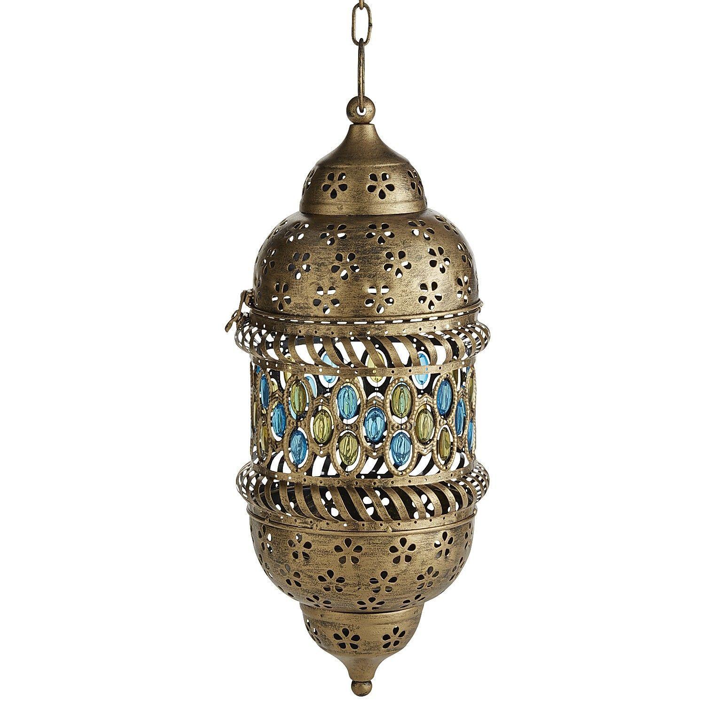 Caravan Blue Gems Hanging Lantern - Pier 1 Imports