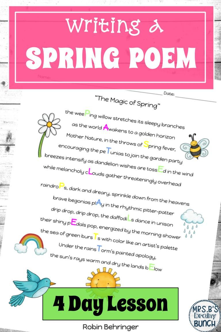 hight resolution of Distance Learning Spring Poem Writing   Editable and Digital   Teaching creative  writing