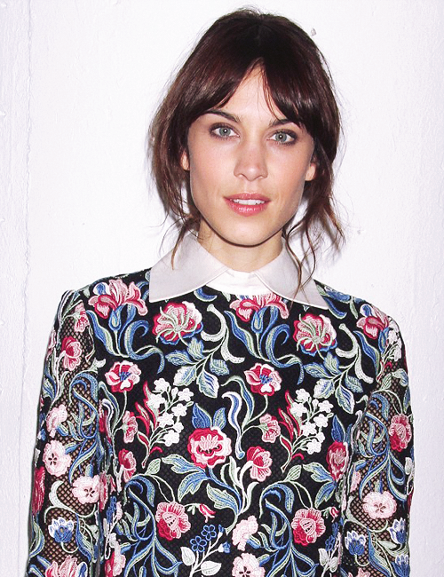 alexa chung is a true beauty - even if this shirt she is wearing is quite hideous.