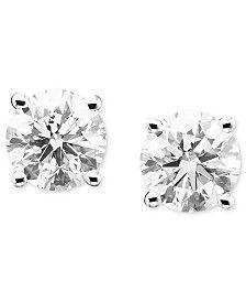 Diamond Stud Earrings (1/5 ct. t.w.) in 14k White or Yellow Gold