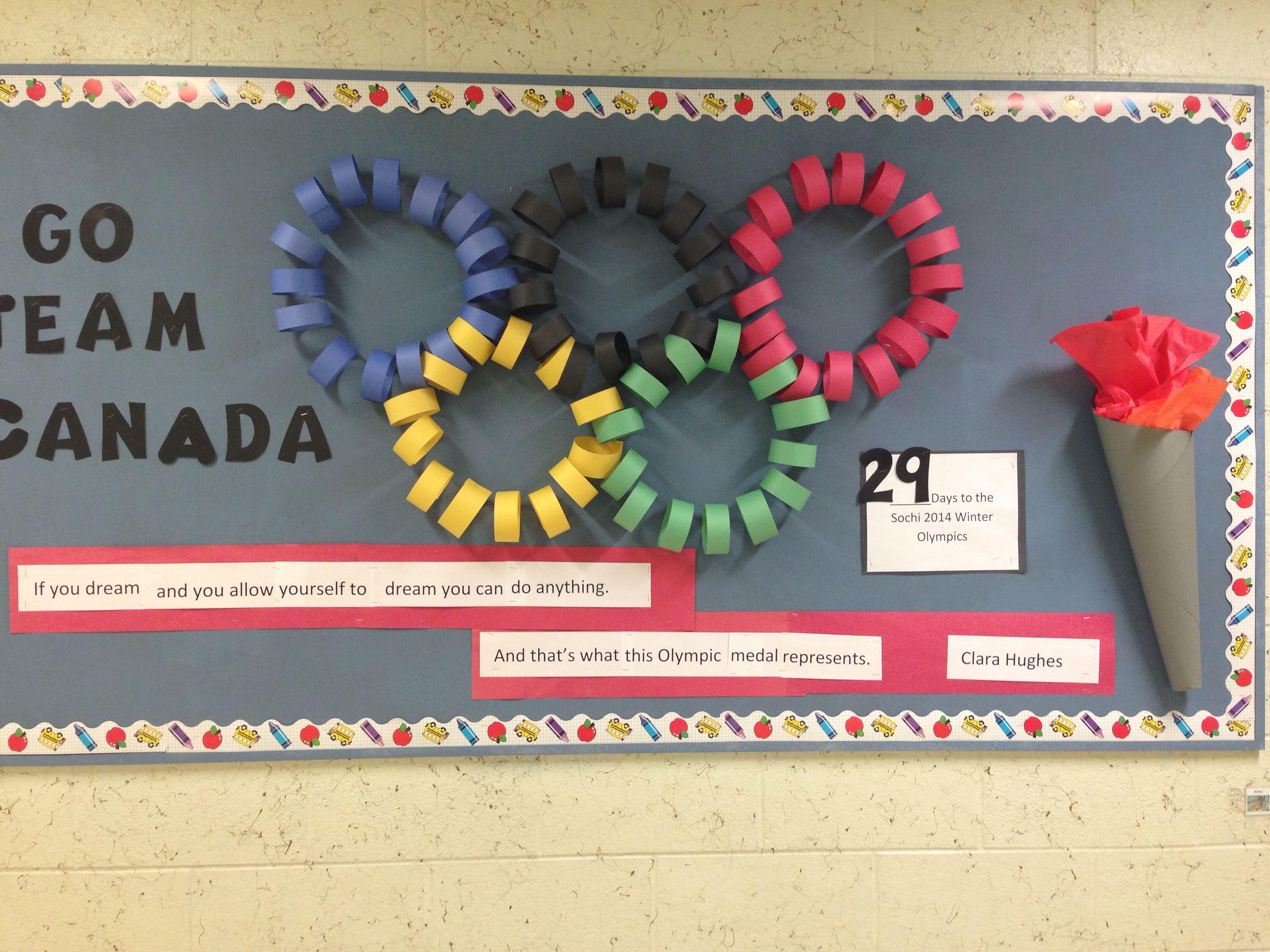 Classroom Olympics Ideas ~ Canada olympic bulletin board education pinterest