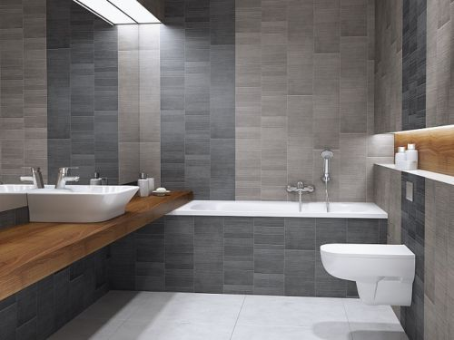 Vox Modern Graphite L Tile Panels 4 Pack Bathroom Shower Pvc Cladding Wet Wall