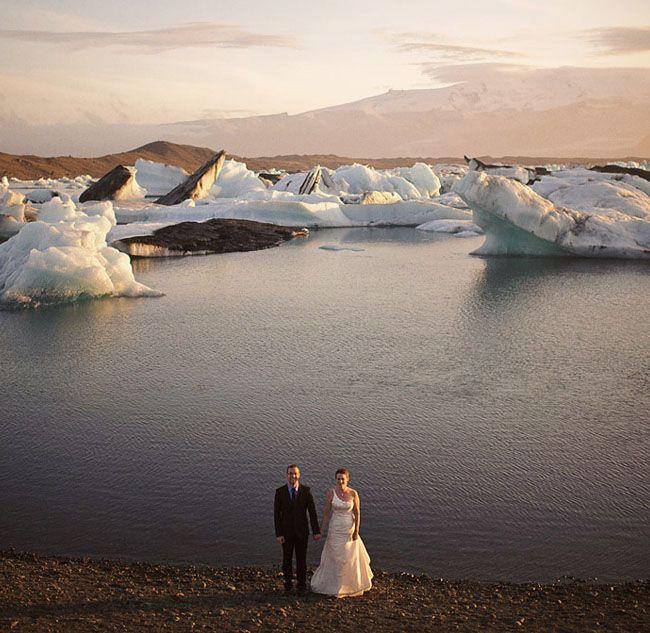 amazing icelandic glacier wedding