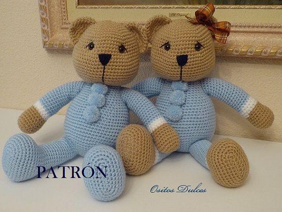Amigurumi Oso Panda Patron : Pattern blue celeste amigurumi pdf patrones amigurumi osos y